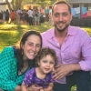 Rabbis Annie Lewis & Yosef Goldman with daughter Zohar at Camp Ramah