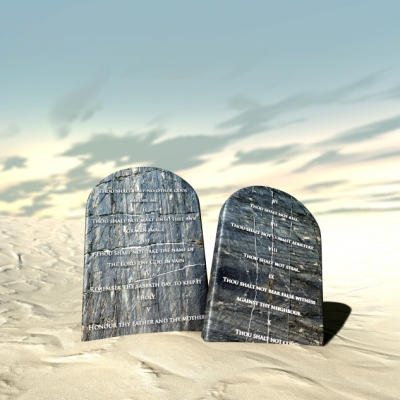 two tablets of the ten commandments