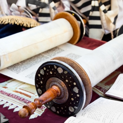 torah scroll opened