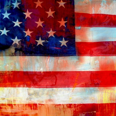 painting of American flag