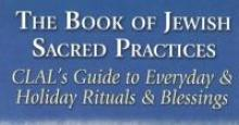book cover of The Book of Jewish Sacred Practices: people walking through water