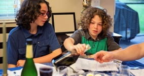 Children at seder table